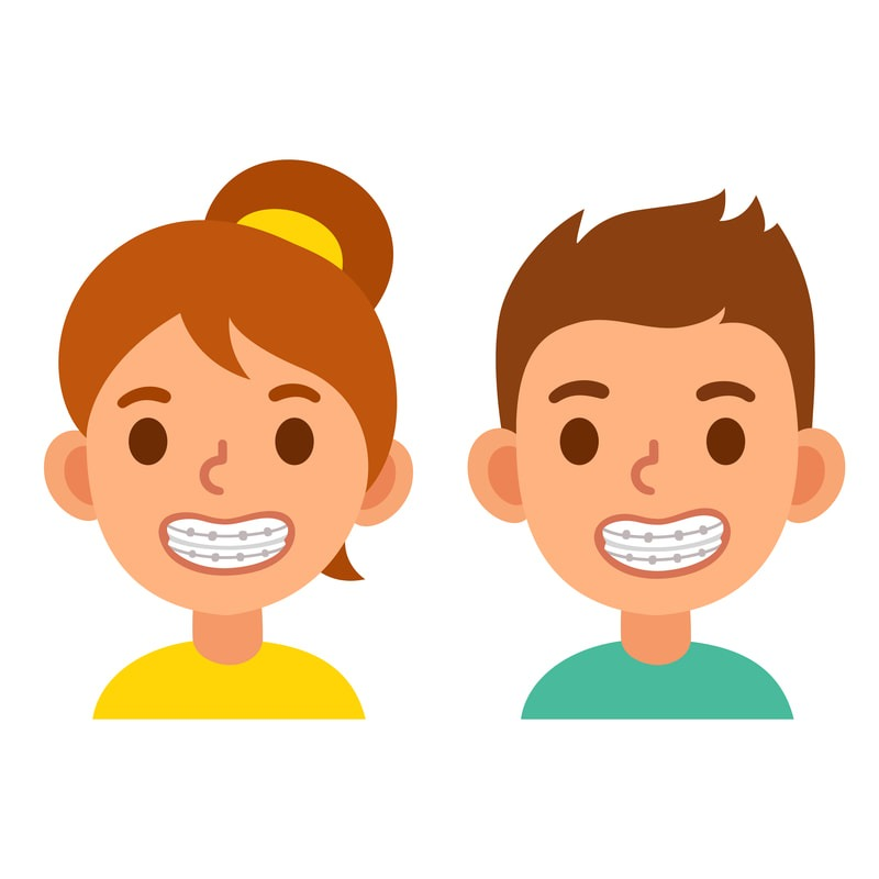 Braces Boy and Girl